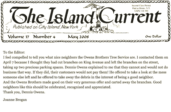 Island Current Owens Tree Services